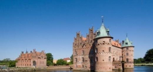 The old Egeskov Castle on Funen, Denmark