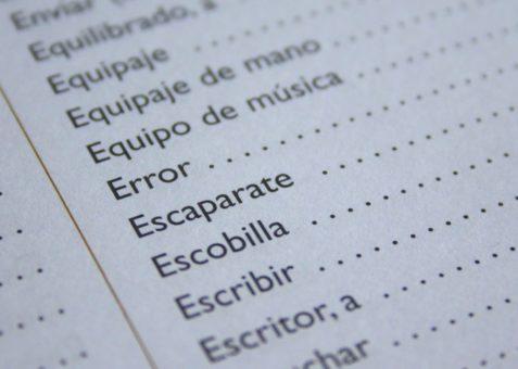 liste de mots à apprendre en espagnol